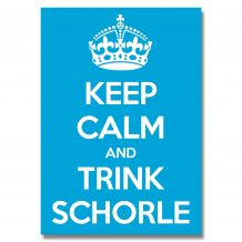 Aufkleber: Keep Calm and trink Schorle