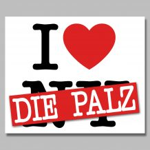 Aufkleber: I love die Pfalz