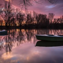 Foto: Boote auf dem Silbersee bei Bobenheim-Roxheim