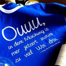 Pfalz-Shirt: Schorle-Mischung (blau)